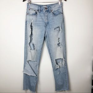 Madewell distressed perfect vintage jean